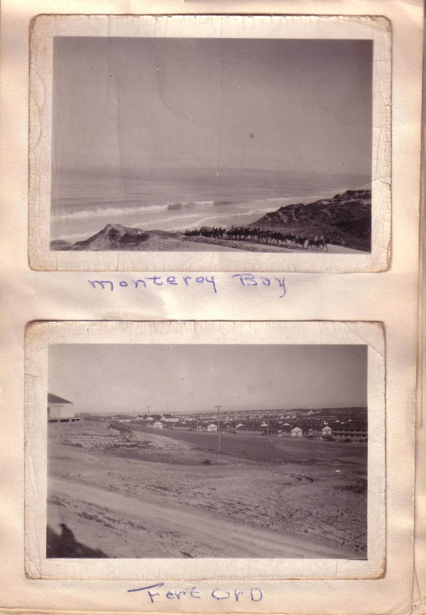 Arthur and Elizabeth Huston Vacation Album, ca. 1947 Page 8; Monterey Bay, FortOrd